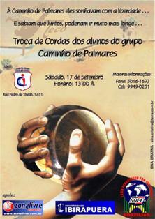 Portal Capoeira Troca de cordas dos alunos do Grupo Caminho de Palmares Eventos - Agenda
