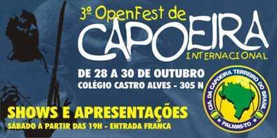 Portal Capoeira Convite Open Fest 2005 em Palmas - TO Eventos - Agenda