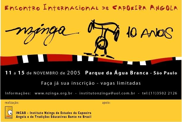 Portal Capoeira Nzinga...10 anos! Eventos - Agenda