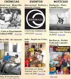 Portal Capoeira Jornal do Capoeira - Matérias da Edição 63 Notícias - Atualidades
