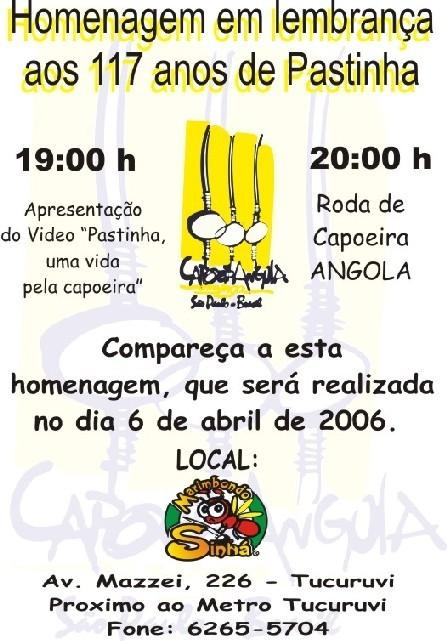 Portal Capoeira SP, Tucuruvi: Homenagem aos 117 anos de Pastinha Eventos - Agenda