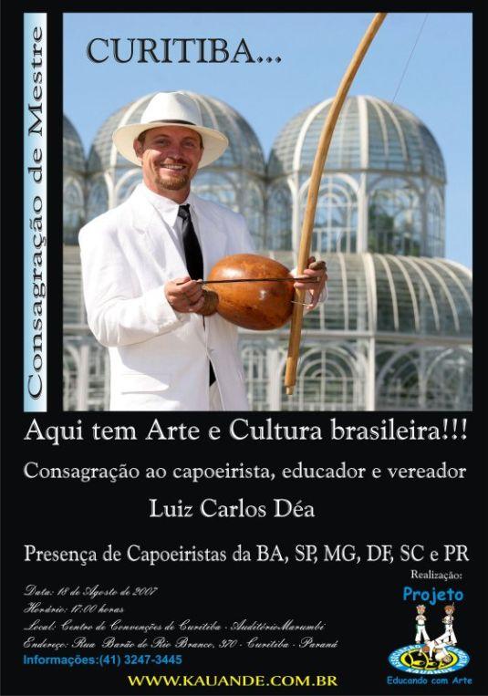 Curitiba: Capoeirista Déa será consagrado Mestre
