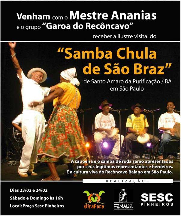 São Paulo: Mestre Ananias, Garoa do Recôncavo & Samba Chula de São Braz