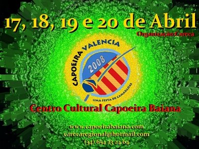 """Portal Capoeira Espanha: Capoeira Valencia """"Uma Festa de Camaradas"""" Eventos - Agenda"""