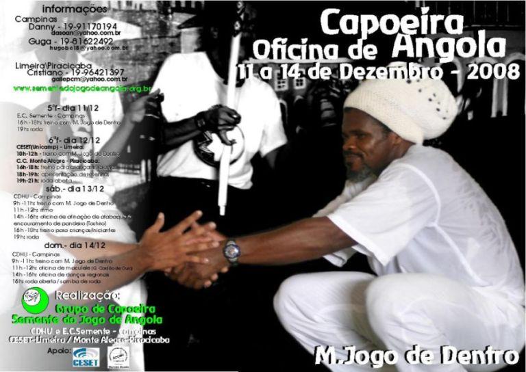 Portal Capoeira Oficina de Capoeira Angola Mestre Jogo de Dentro Eventos - Agenda