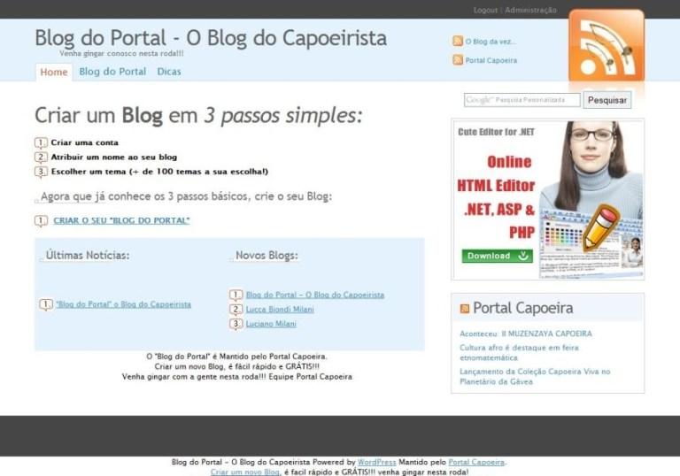 Portal Capoeira Blog do Portal - O Blog do Capoeirista Notícias - Atualidades