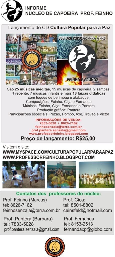Portal Capoeira Lançamento do Cd Cultura Popular para a Paz Eventos - Agenda