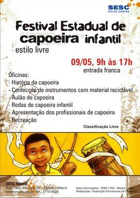 Portal Capoeira SESC Niteroi - Capoeira Infantil Eventos - Agenda
