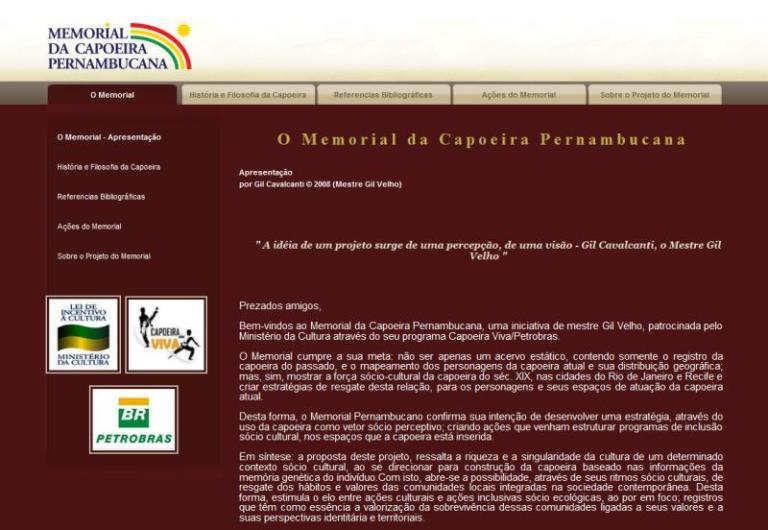 Portal Capoeira Memorial da Capoeira Pernambucana Notícias - Atualidades