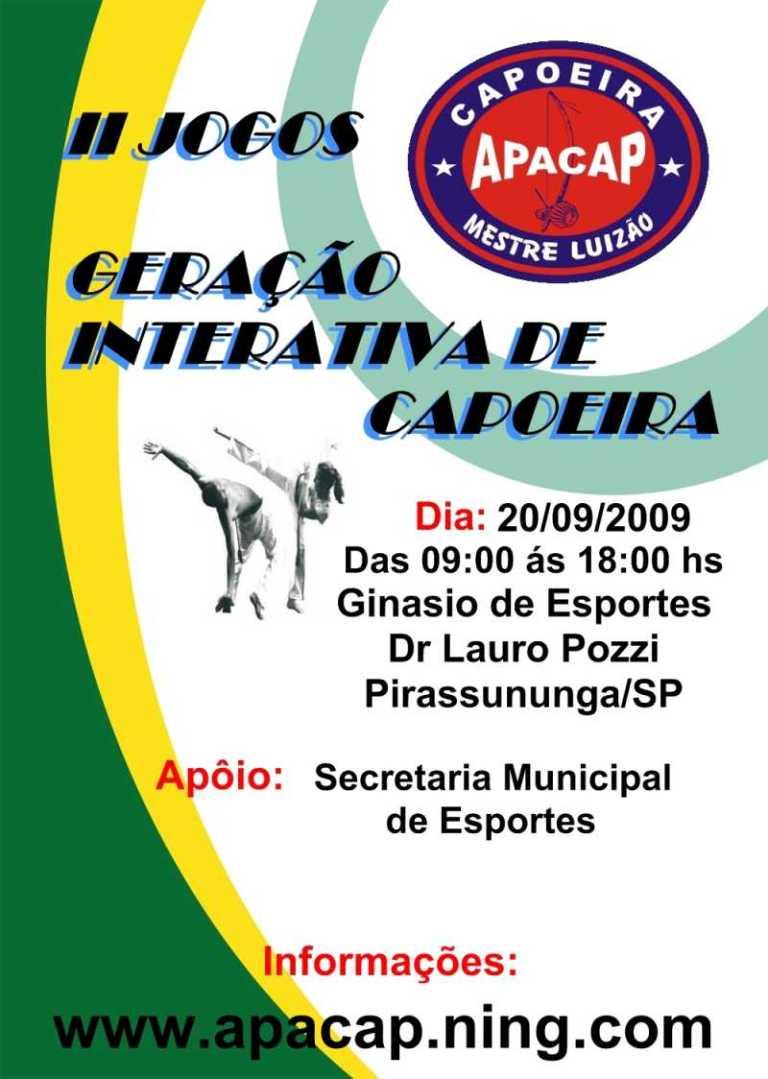 Portal Capoeira II Jogos Geração Interativa de Capoeira Eventos - Agenda
