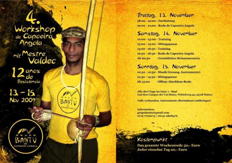 Portal Capoeira Alemanha: 12 anos do Grupo Bantu de Capoeira Angola Eventos - Agenda