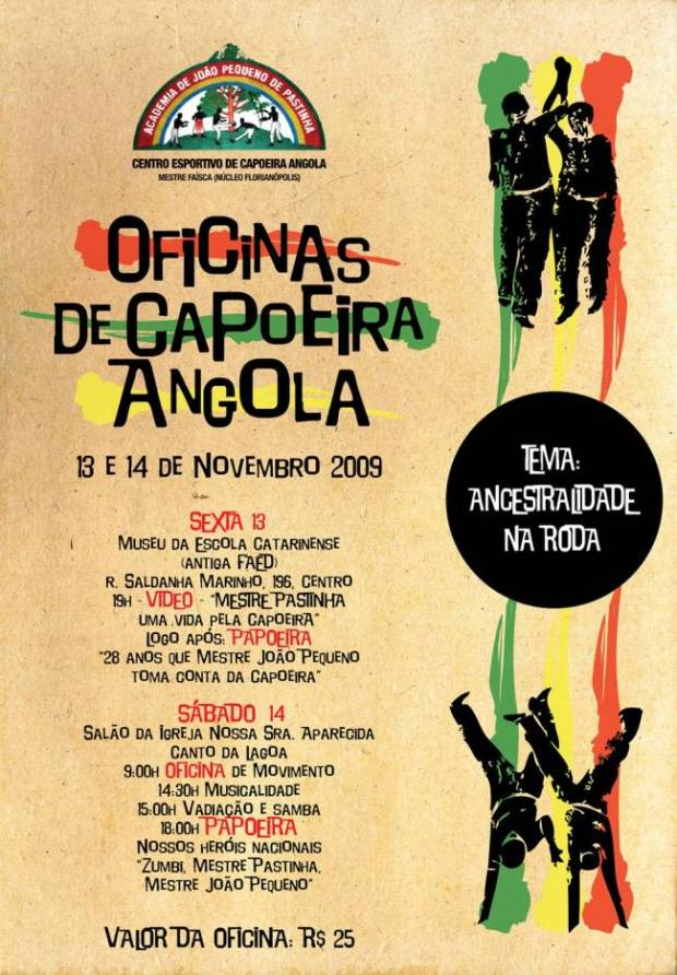 Portal Capoeira CECA Florianópolis - Ancestralidade na Roda Eventos - Agenda