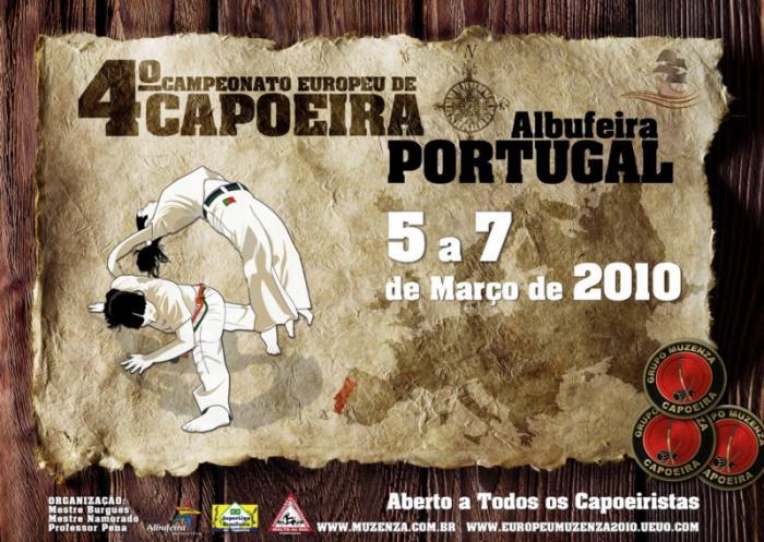 Portal Capoeira Portugal: 4º Campeonato Europeu de Capoeira Eventos - Agenda