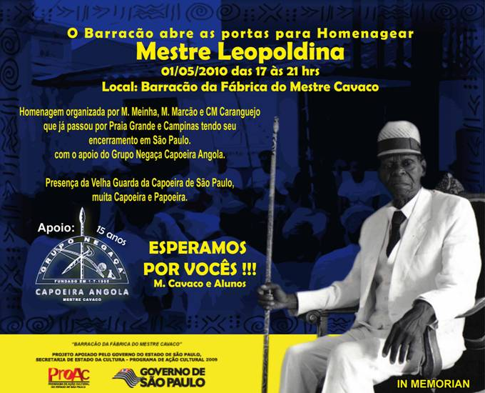 Portal Capoeira Homenagem ao Mestre Leopoldina Eventos - Agenda