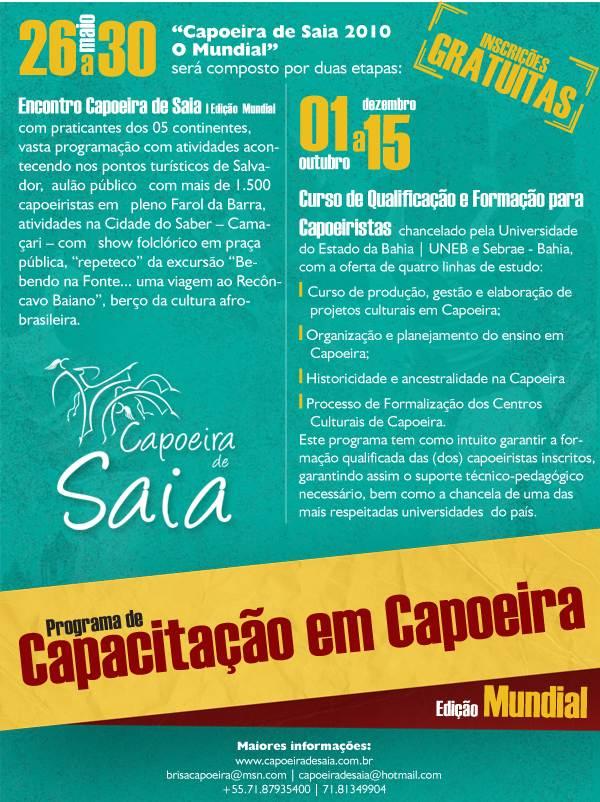 Portal Capoeira Programa Capoeira de Saia 2010 Capoeira Mulheres