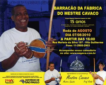 Portal Capoeira São Paulo: 15 Anos do Grupo Negaça Eventos - Agenda