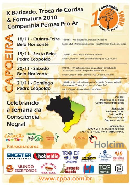 Portal Capoeira 10º Batizado de Capoeira e Formatura Companhia Pernas Pro Ar Eventos - Agenda