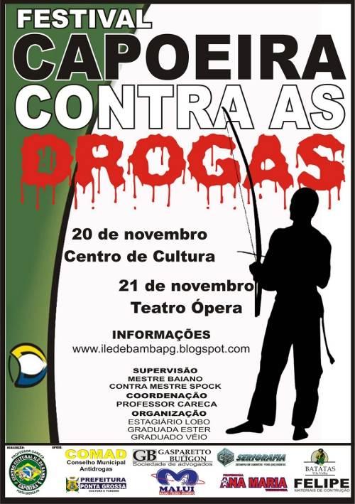 Portal Capoeira Ponta Grossa: Festival Capoeira Contra as Drogas Cidadania