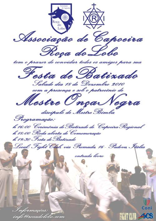 Portal Capoeira Italia: Batizado Roça do Lobo Capoeira Regional Eventos - Agenda
