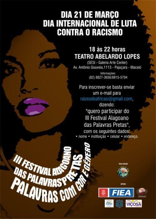 Portal Capoeira III Festival Alagoano das Palavras Pretas Cultura e Cidadania
