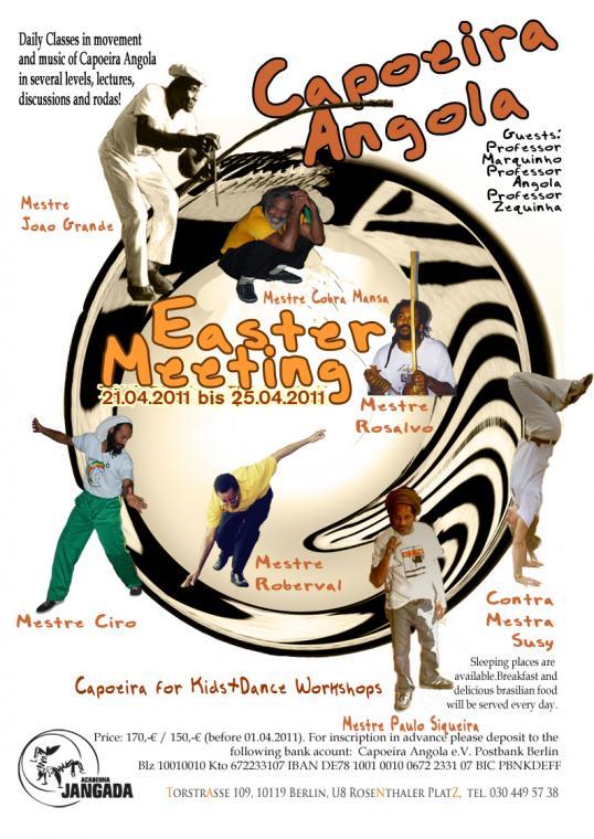 Portal Capoeira Berlim: Encontro International de Capoeira Angola 2011 Eventos - Agenda