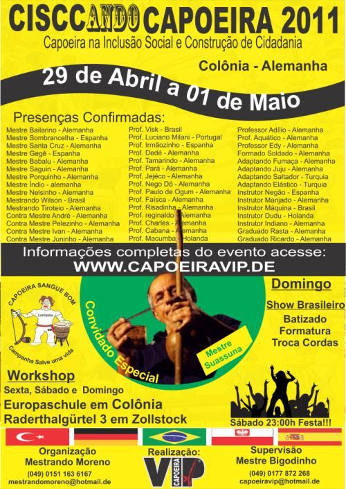 Portal Capoeira Alemanha: CISSCANDO CAPOEIRA 2011 Eventos - Agenda
