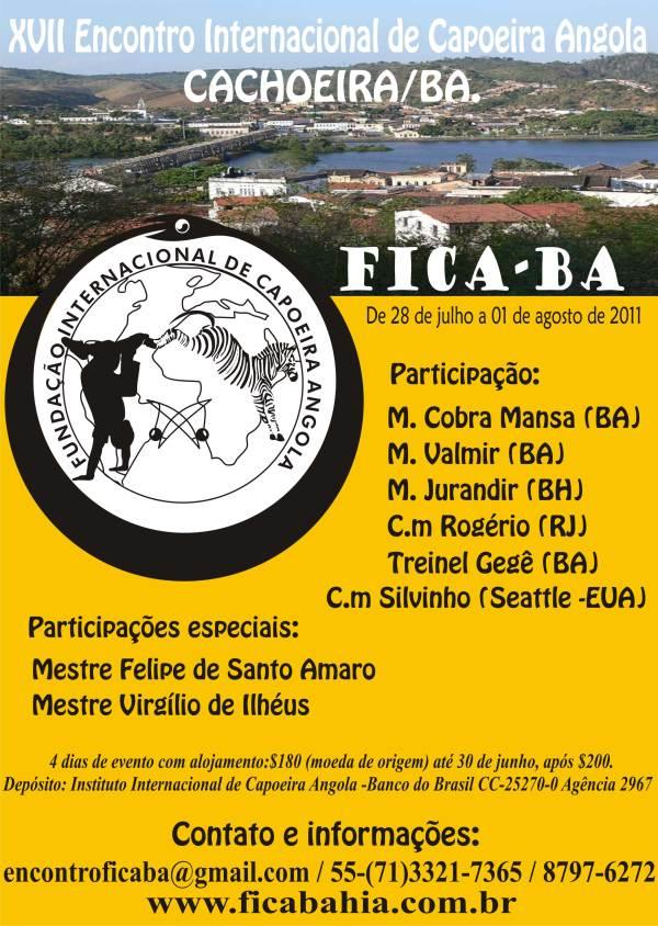 XVII Encontro Internacional de Capoeira Angola FICA-Bahia