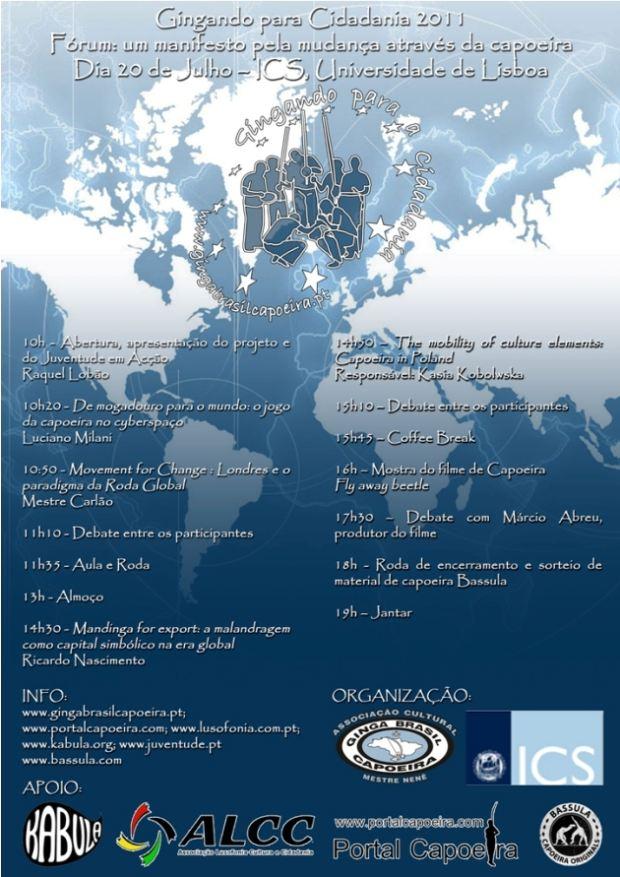Portal Capoeira Portugal: Gingando para Cidadania 2011 Eventos - Agenda