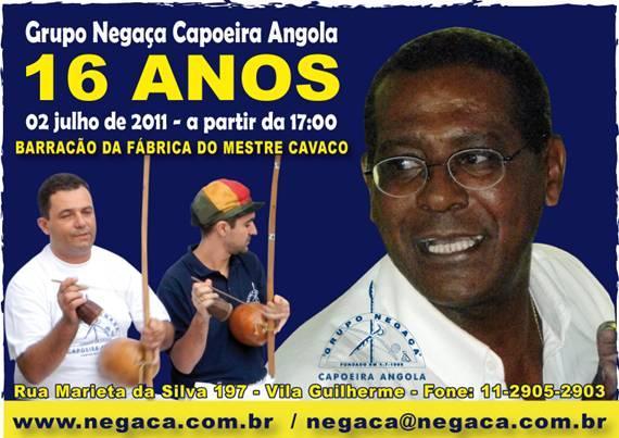 Portal Capoeira São Paulo: Grupo Negaça Capoeira Angola 16º aniversário Eventos - Agenda