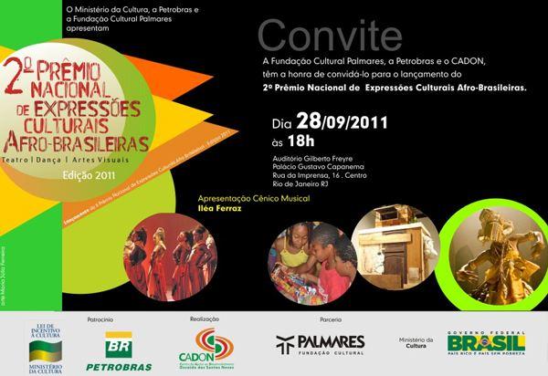 Prêmio Nacional de Expressões Culturais Afro-brasileiras será lançada no Rio de Janeiro