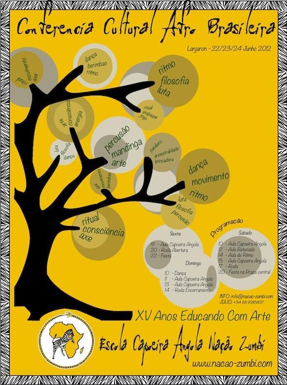 Portal Capoeira Conferência Cultural Afro Brasileira - Nação Zumbí Eventos - Agenda