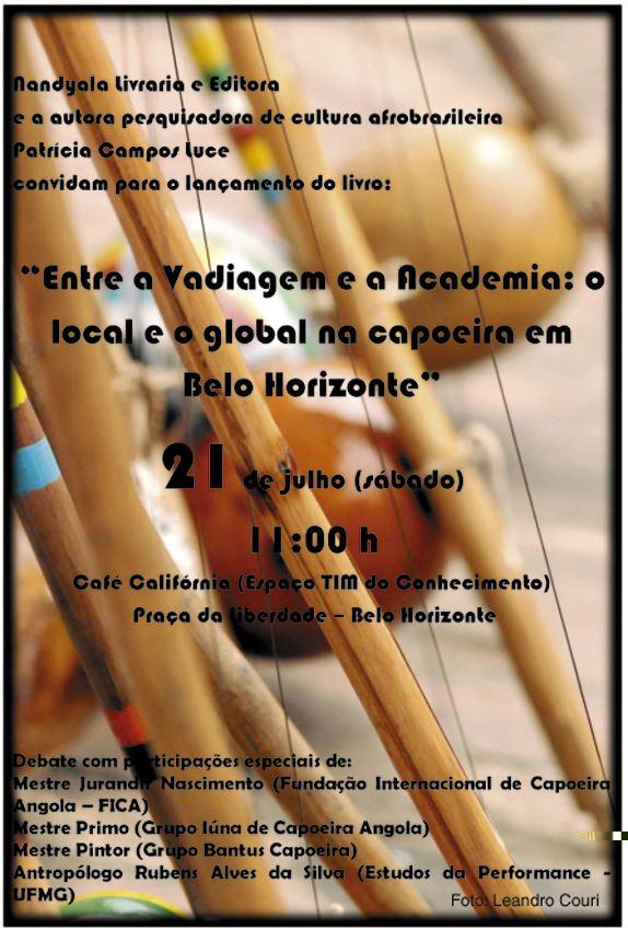 Portal Capoeira Livro aborda pesquisa em BH sobre capoeira Publicações e Artigos