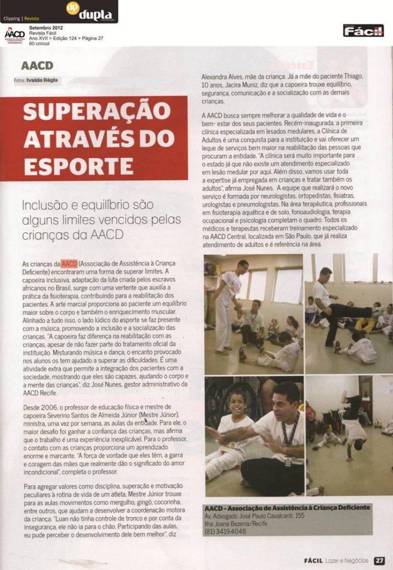 Portal Capoeira AACD: Superação através do Esporte Capoeira sem Fronteiras