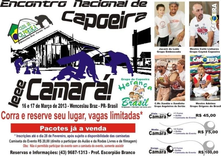 Portal Capoeira Herança Brasil grava DVD Ieee Camará 2013, no Encontro Nacional de Capoeira Eventos - Agenda