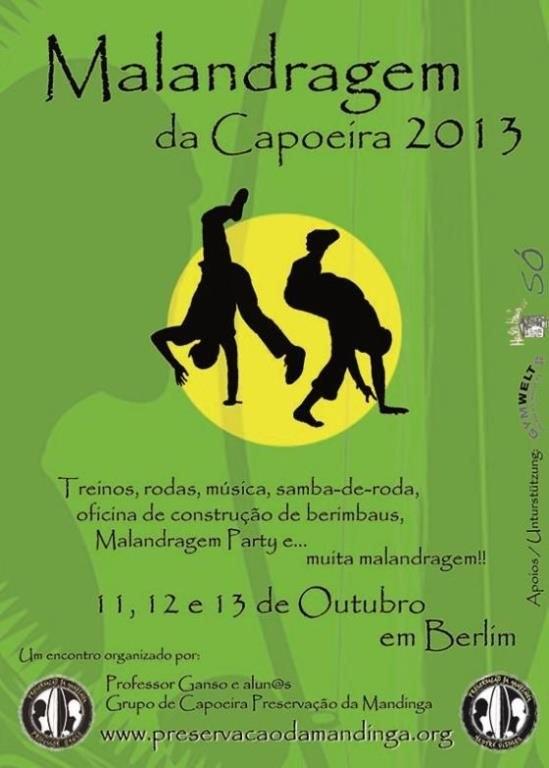 Portal Capoeira Berlin: Malandragem da Capoeira 2013 Eventos - Agenda