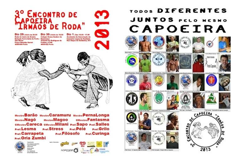"""Portal Capoeira Porto: 3º Encontro """"Irmão de Roda"""" Eventos - Agenda"""