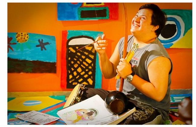 Aulas de capoeira na Fundação Síndrome de Down