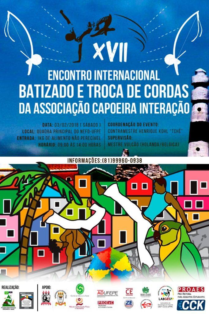 Aconteceu: XVII Encontro Internacional, Batizado e Troca de Cordas da Associação Capoeira Interação Eventos - Agenda Portal Capoeira