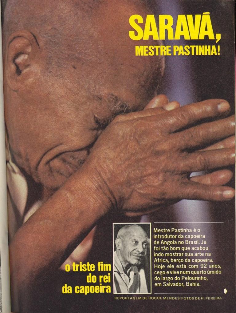 Portal Capoeira Mestre Pastinha - Revista Placar Dezembro 1979 Curiosidades Mestres