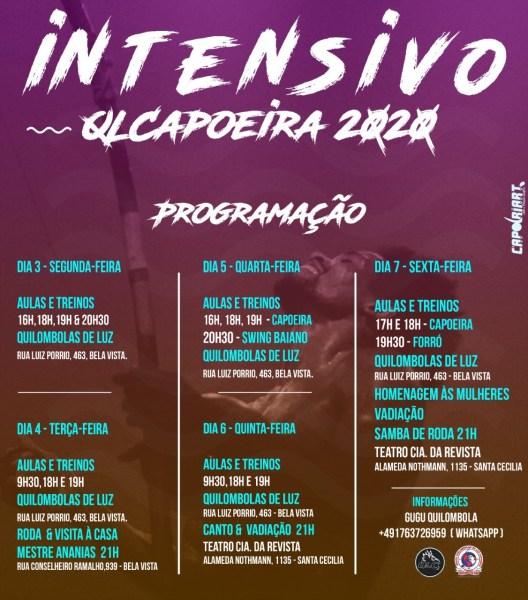 Intensivo e Formatura QLC 2020 São Paulo- Brasil Capoeira Portal Capoeira 2