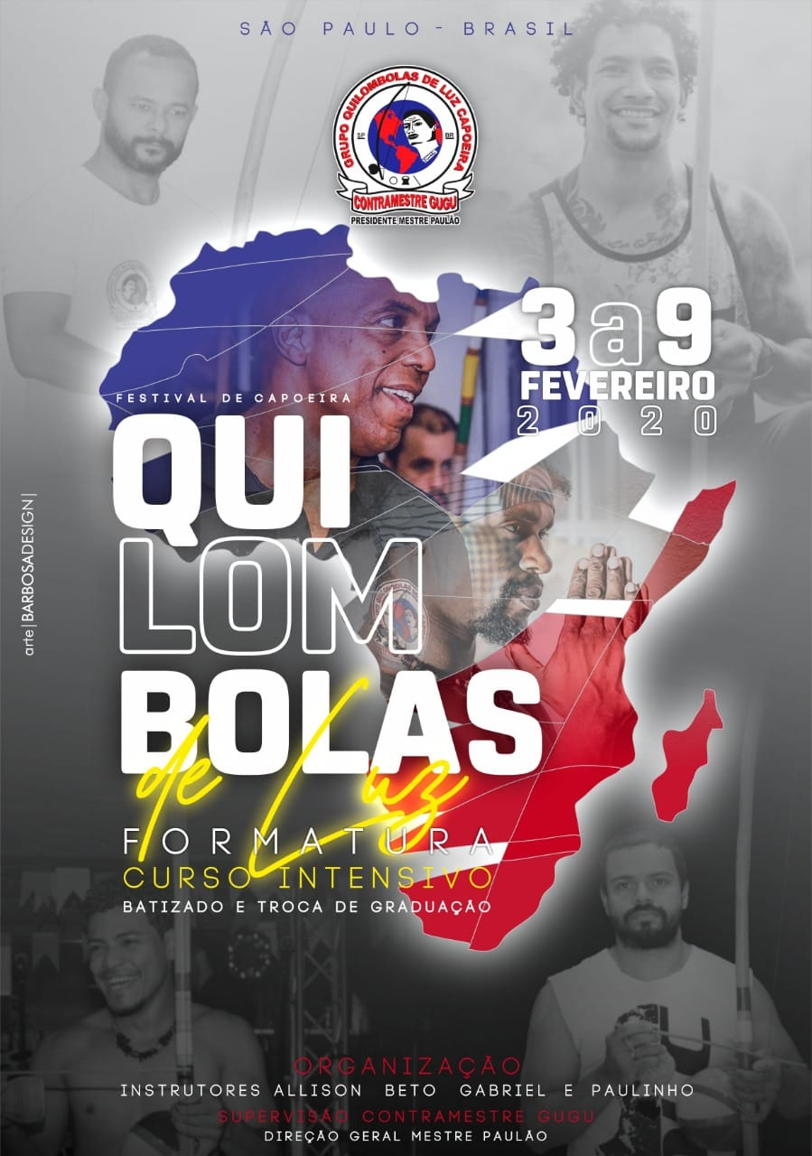 Portal Capoeira Intensivo e Formatura QLC 2020 São Paulo- Brasil Eventos - Agenda Capoeira