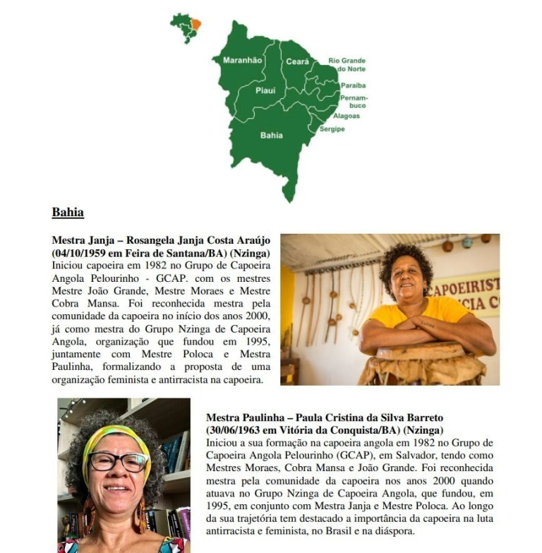 Portal Capoeira Quem são e onde estão hoje as Mestras de Capoeira Angola?