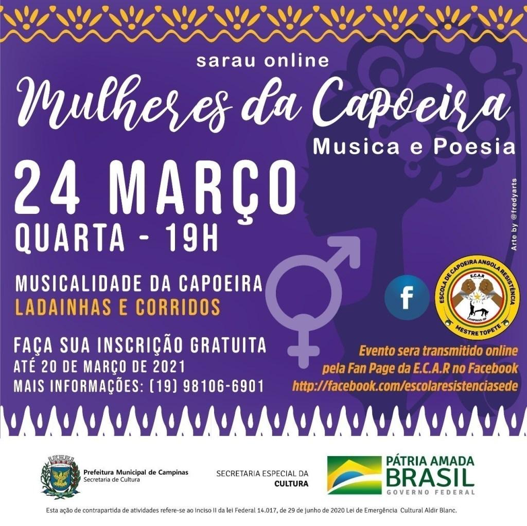 Sarau online: Mulheres da Capoeira