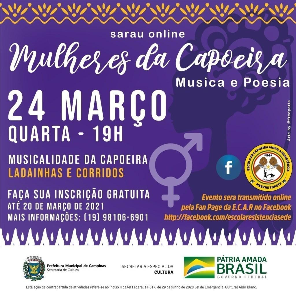 Sarau online: Mulheres da Capoeira Capoeira Portal Capoeira