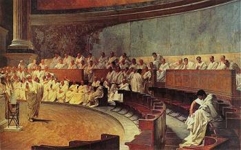 Cicerón ante el Senado
