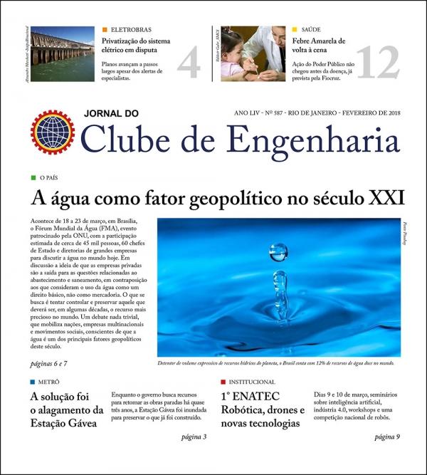 Jornal do Clube de Engenharia nº 587 - Fevereiro de 2018
