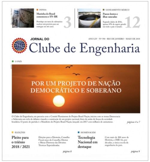 Jornal do Clube de Engenharia nº 590 - Maio de 2018
