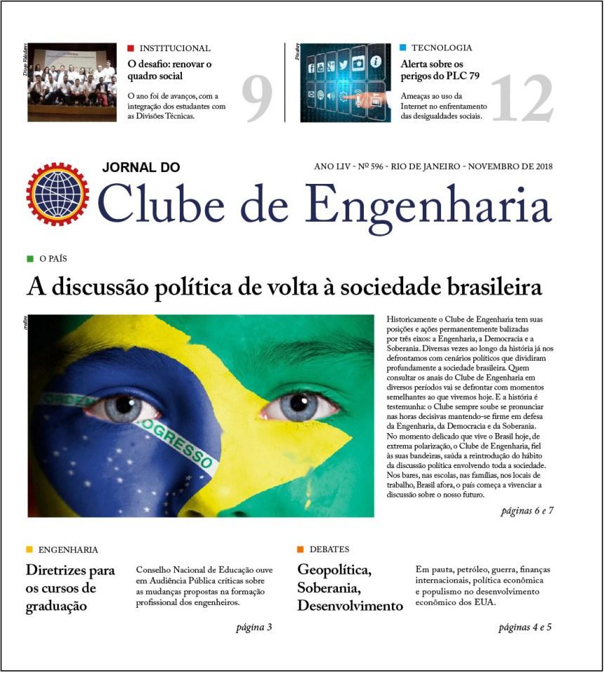 Jornal do Clube de Engenharia nº 596 – Novembro de 2018