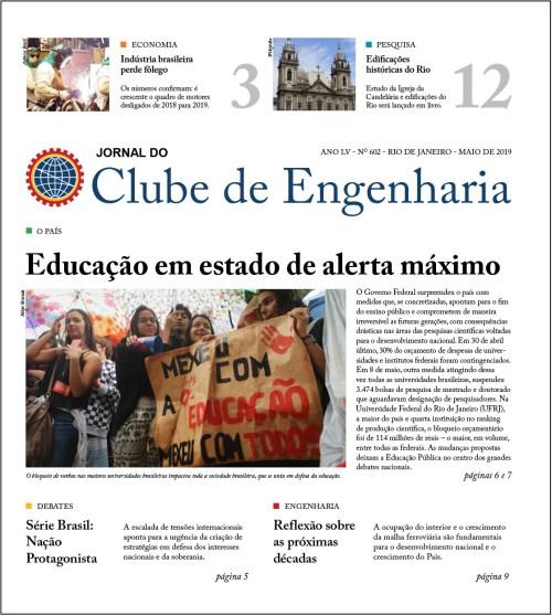 Jornal do Clube de Engenharia nº 602 – Maio de 2019