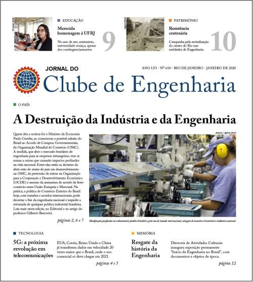 Jornal do Clube de Engenharia nº 610 - Janeiro de 2020